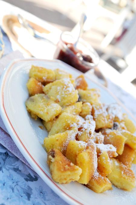 Kaiserschmarrn - Austrian pancake desert with plum sauce